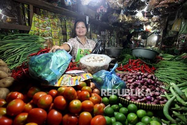 Pedagang di pasar (ilustrasi).