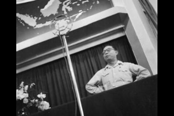 Hatta berpidato di depan anggota KNIP Januari 1947