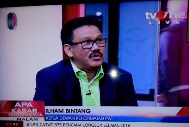Ilham Bintang dalam sebuah acara diskusi di TVOne