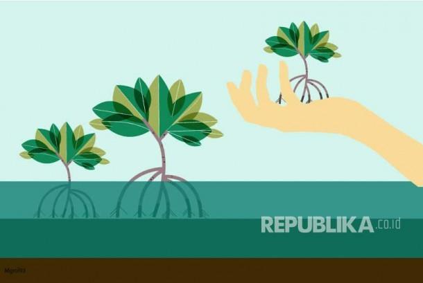 Ilustrasi Penanaman Pohon ilustrasi