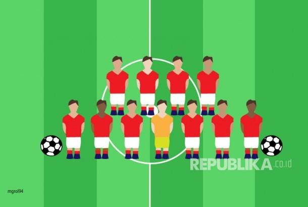 Ilustrasi Permainan Sepak Bola