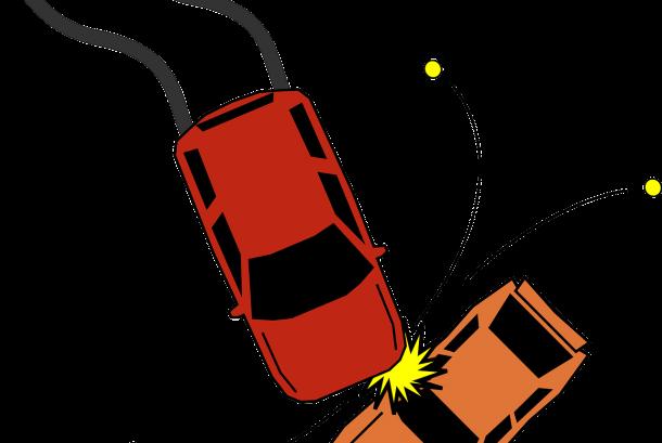 Ilustrasi Tabrakan Mobil