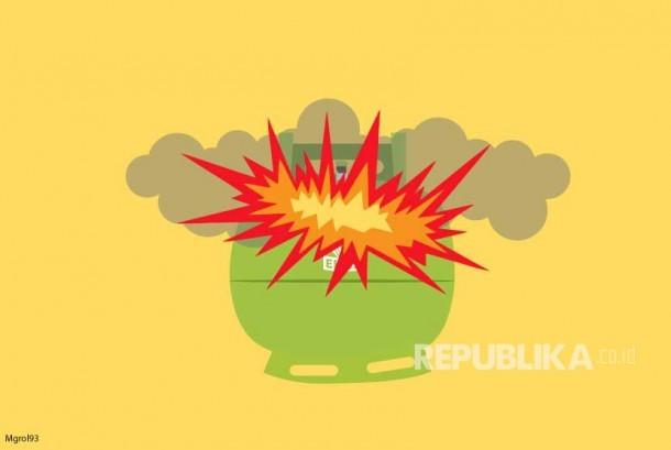 Ilustrasi Tabung gas melon meledak