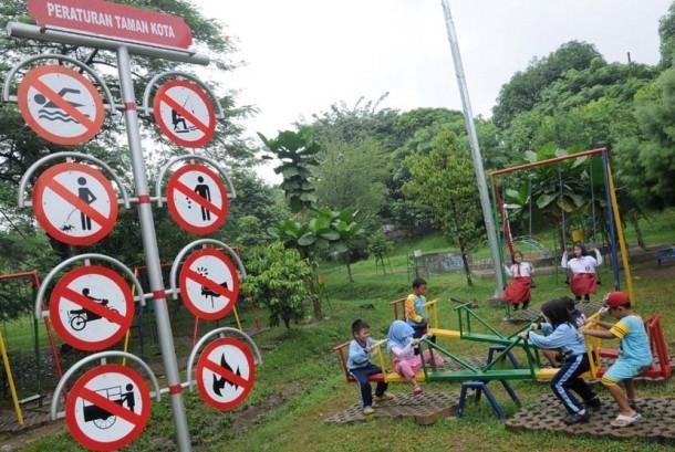 Ilustrasi taman kota