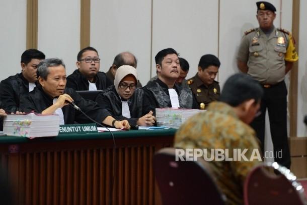 Jaksa penuntut umum sidang terdakwa kasus dugaan penistaan agama, Basuki Tjahaja Purnama alias Ahok.