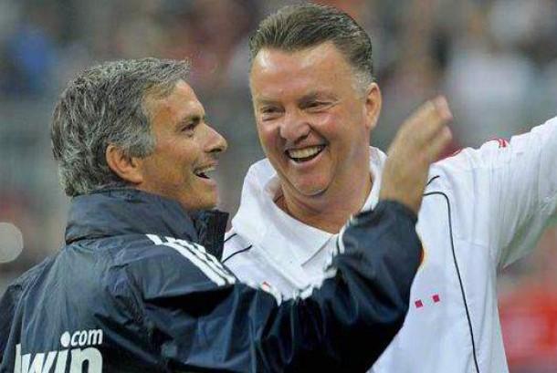 Jose Mourinho dan Louis Van Gaal.