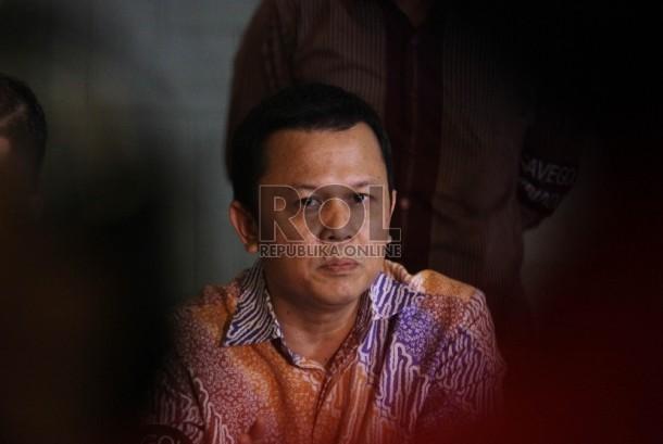Jubir Poros Muda Partai Golkar Andi Sinulingga memberikan keterangan pers di Jakarta, Selasa (5/1).