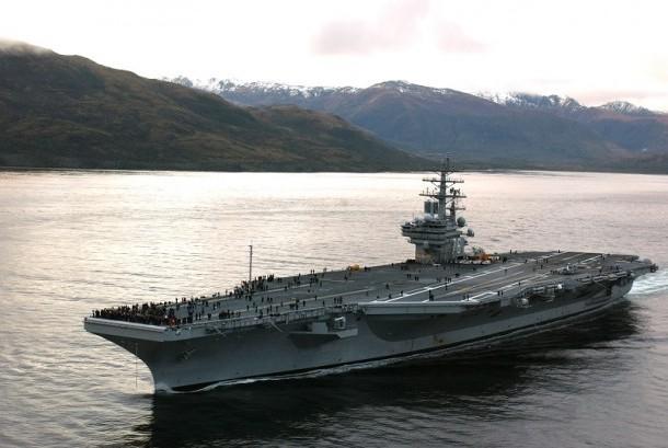 Kapal Induk USS Ronald Reagen (ilustrasi)