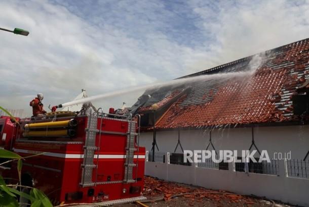 Kebakaran Museum Bahari Jakarta Utara, pada Selasa (16/1).