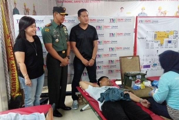 Kegiatan donor darah Kodim 0503/Jakbar bersama LTC