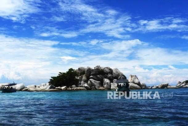 Keindahan Pulau Lengkuas di Belitung (ilustrasi)
