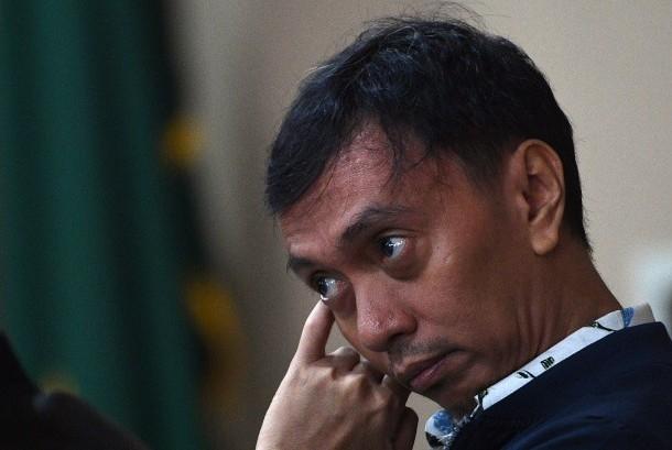 Kepala Sub Auditorat III Auditorat Keuangan Negara BPK Ali Sadli selaku terdakwa menjalani sidang lanjutan di Pengadilan Tipikor, Jakarta Pusat, Senin (30/10).