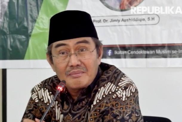 Ketua Ikatan Cendekiawan Muslim Indonesia (ICMI) Jimly Asshiddiqie