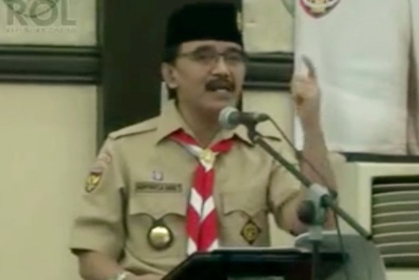 Chairman of Indonesian Scout Movement Adhyaksa Dault