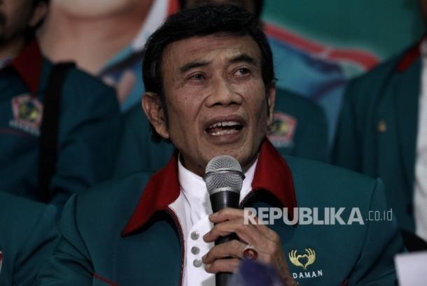 Ketua Umum Partai Islam Damai dan Aman (Idaman) Rhoma Irama.
