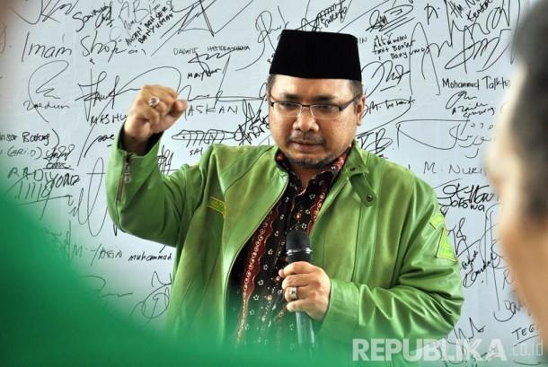 Ketua Umum Pimpinan Pusat GP Ansor H Yaqut Cholil Qoumas