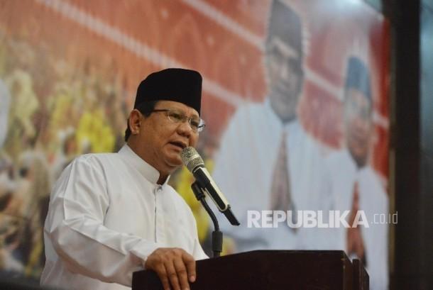 Ketua Umum sekaligus Dewan Pembina Partai Gerindra Prabowo Subianto