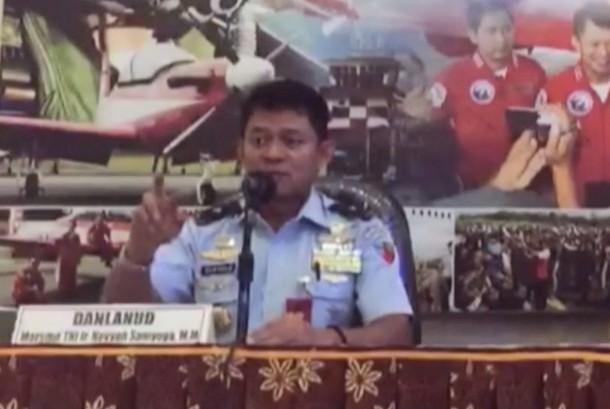 Komandan Pangkalan Udara (Danlanud) Adisutjipto Marsekal Pertama (Marsma) TNI Novyan Samyoga