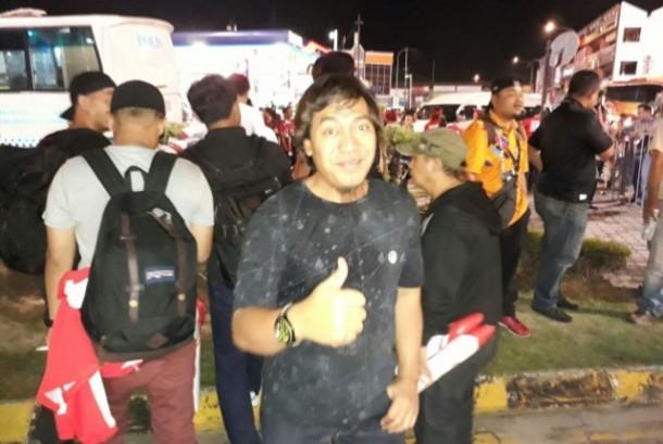Komeng seusai menyaksikan laga Timnas Indonesia U-22 kontra Vietnam di SEA Games 2017.