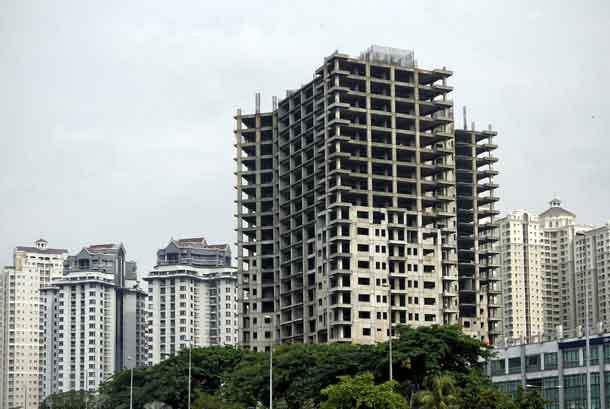 Kompleks bangunan apartemen (ilustrasi).