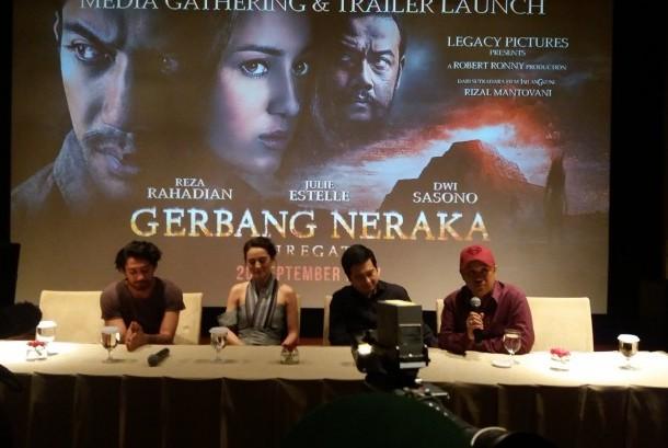 Konferensi pers peluncuran trailer Gerbang Neraka
