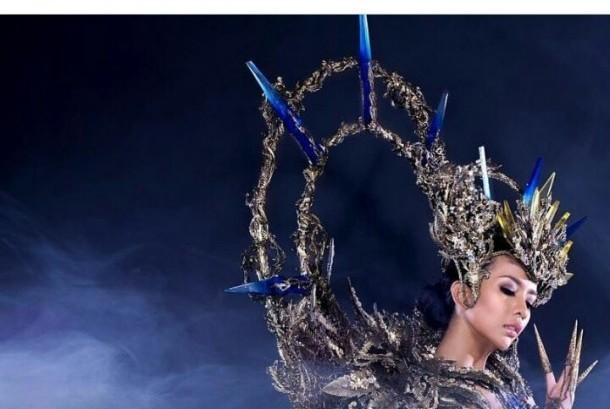 Kostum yang dikenakan Dea Rizkita di ajang Miss Grand International 2017.