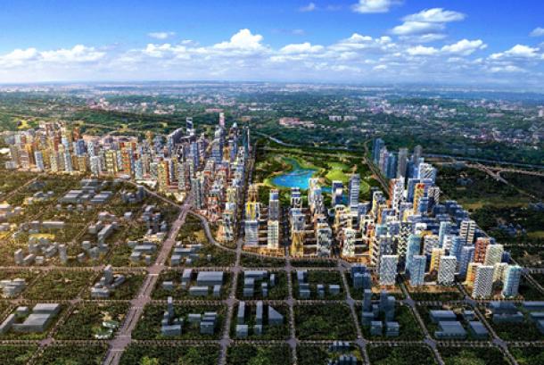 Kota modern (ilustrasi).
