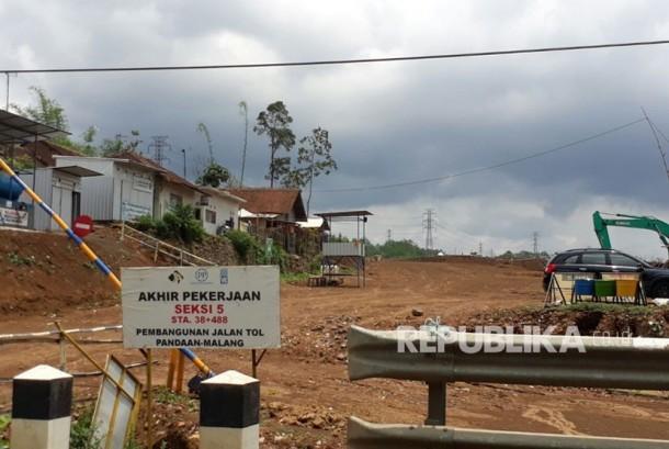 Lahan pembangunan tol Malang-Pandaan (Mapan) di Kota Malang.