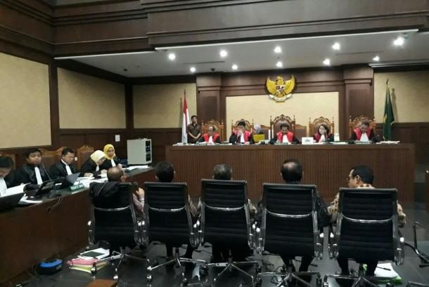 Sidang kasus proyek pengadaan KTP elektronik di PN Tipikor Jakarta.