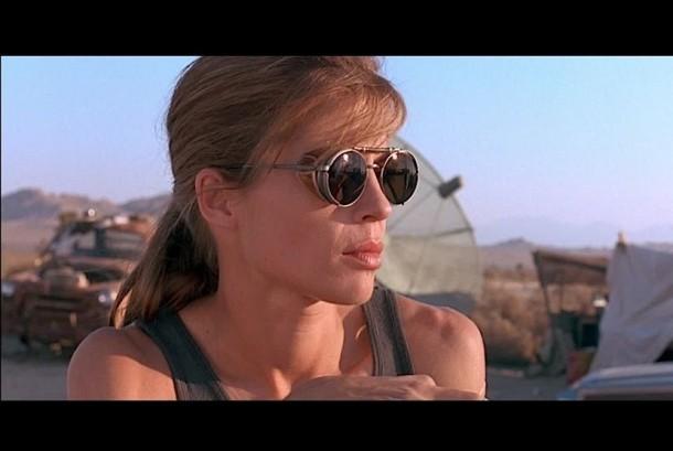 Linda Hamilton sebagai Sarah Connor di film Terminator