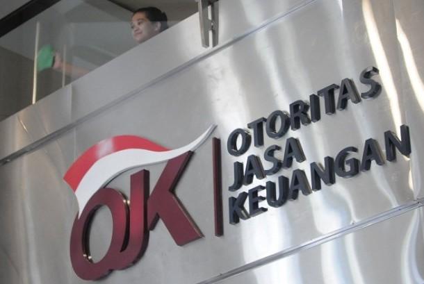 Logo of Financial Service Authority or Otoritas Jasa Keuangan (OJK) in Indonesian language. (illustration)