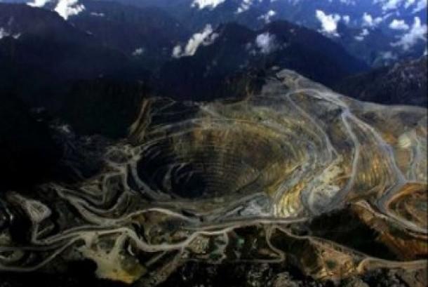 Lokasi penambangan Freeport di Timika, Papua.