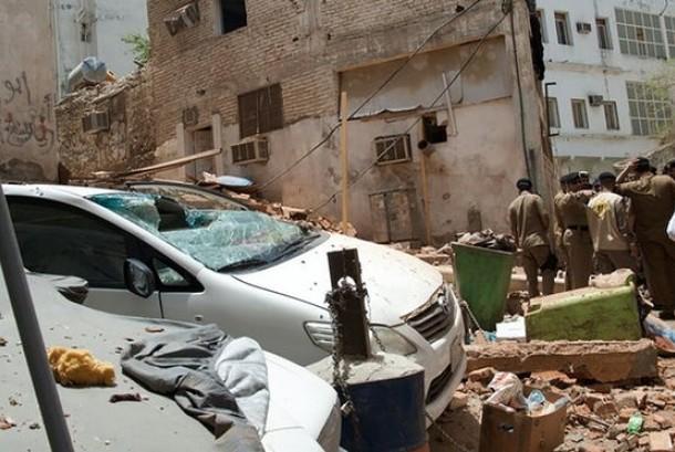 Lokasi pengebom bunuh diri yang diduga menargetkan Masjidil Haram, Makkah, Arab Saudi, Jumat (23/6).