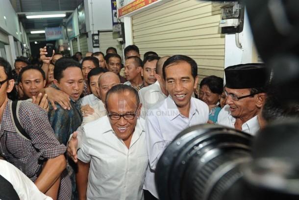 Capres dari PDIP Joko Widodo bersama Ketua Umum DPP Partai Golkar