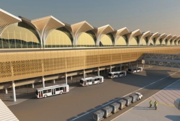 Maket bandara baru di Madinah