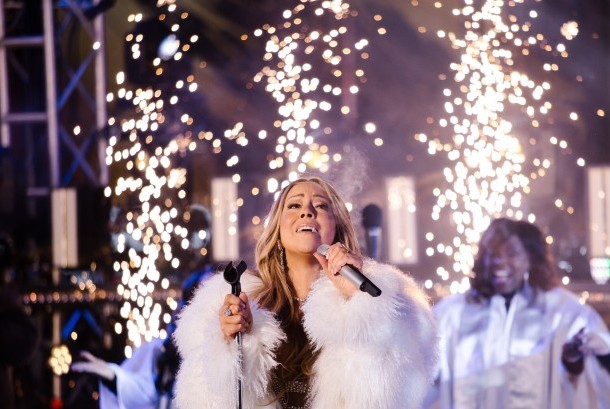 Mariah Carey di perayaan tahun baru Kota New York, AS, (31/7).