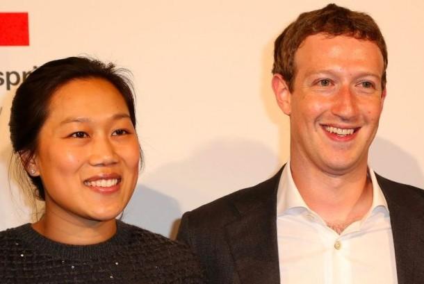 Mark Zuckerberg dan istrinya