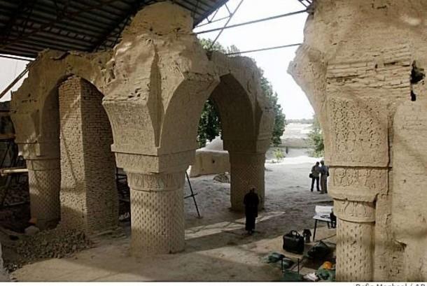 Masjid 9 kubah setelah direstorasi.