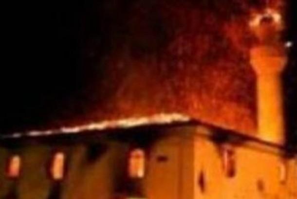 Masjid dibakar/ilustrasi