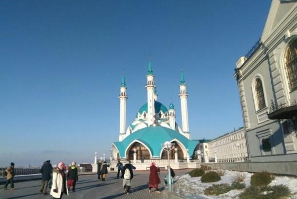 Masjid Kul Syarif di Kota Kazan, Rusia.