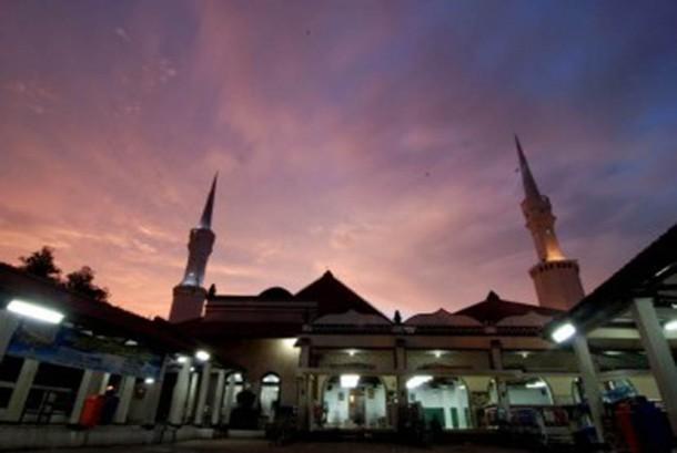 Masjid Luar Batang, Jakarta Utara, Rabu (8/2). (Republika/Prayogi)