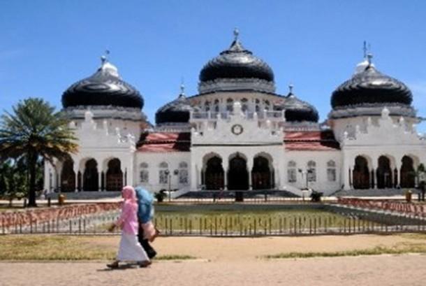 Masjid Raya Baiturahman Aceh.