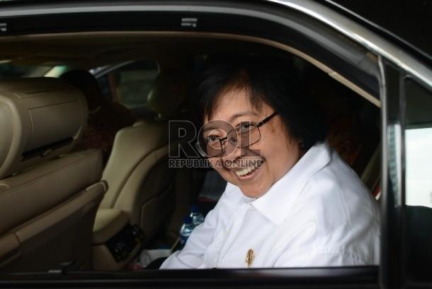 Indonesia's Minister of Forestry and Environment Siti Nurbaya. (Republika/Raisan Al Farisi)
