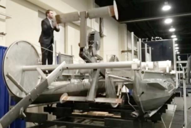 Mesin pembangkit listrik tenaga air sungai arus lambat di AS