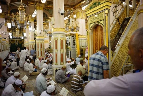 Mihrab di Masjid Nabawi, Madinah, Arab Saudi.