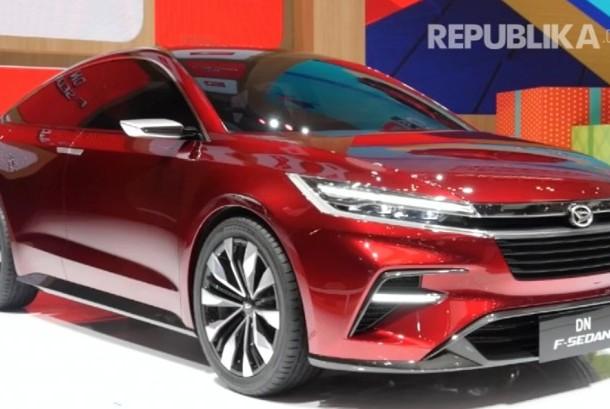Mobil konsep Daihatsi DN F Sedan di ajang GIIAS 2017.