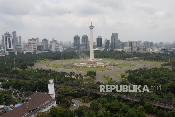 Monas, the landmark of Jakarta city.