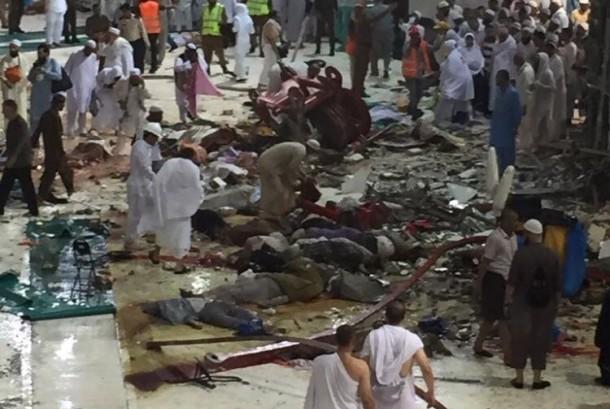 Musibah runtuhnya crane di Masjidil Haram (Ilustrasi)