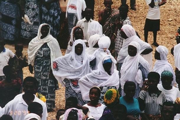 Muslimah di Ghana.