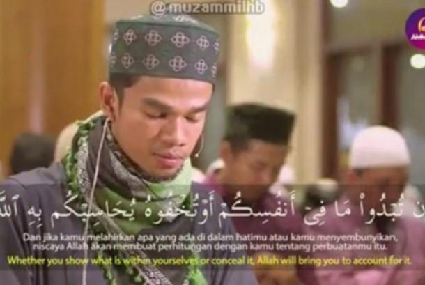 Muzammil Hasballah pimpin shalat subuh sebelum menikah, Jumat (7/7).